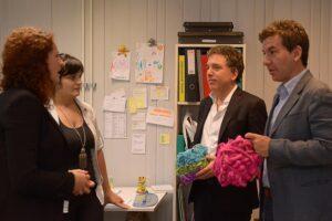 Dujovne visitó el Centro Metropolitano de Diseño