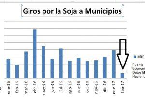 El dólar barato afecta también a los intendentes: en febrero los giros por la Soja cayeron al menor nivel en 27 meses