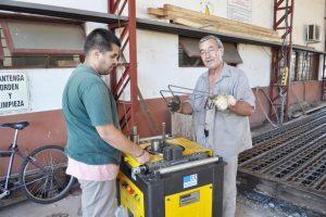 Funciona a pleno la fábrica de viguetas y tubos de Vialidad Provincial
