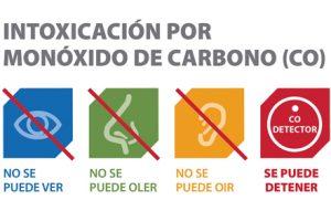 Recomendaciones para evitarintoxicaciones por monóxido de carbono