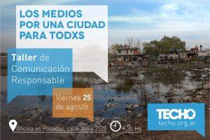 TECHO brindará un taller para periodistas sobrecomunicación responsable