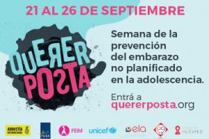 Embarazo adolescente: Amnistía Internacional traerá a Posadas su campaña #QuererPosta