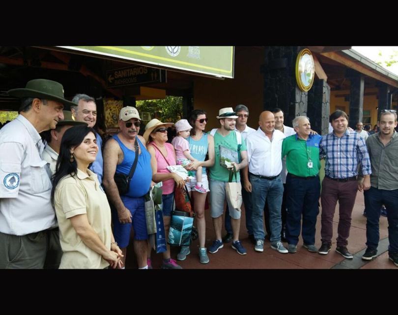 El turista un millón del 2017 ya arribó a las Cataratas del Iguazú