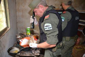 Gendarmería allanó cuatro inmuebles y secuestró cocaína y marihuana