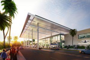 Así lucirá el acceso a la nueva terminal de Iguazú.