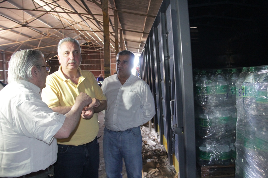 Passalacqua presenció primer envío por transporte ferroviario de Agua de las Misiones