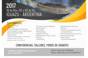 Con más de 50 disertantes se realizará el primer Congreso de Kinesiología de las Tres Fronteras en Iguazú