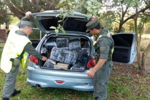 Gendarmería incautó en Corrientes 174 kilos de marihuana ocultos en un vehículo