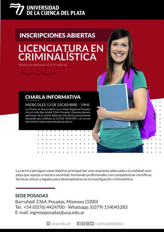 Licenciatura en Criminalística