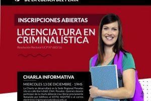 La Universidad de la Cuenca del Plata te ofrece estudiar Criminalística
