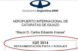 Otro posible contrato para firmas locales: AA2000 lanzó licitación por $267 millones para repavimentar la pista de Iguazú