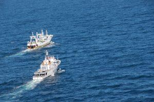 Capturaron un buque español dentro de la zona económica exclusiva