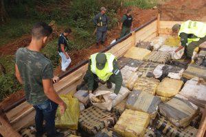 Gendarmería secuestró otros 3.520 kilos de marihuana en Misiones
