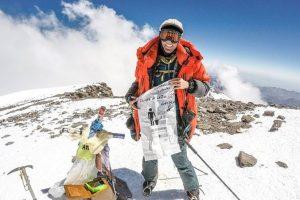La primera mujer en subir el Aconcagua en una prueba de alta resistencia