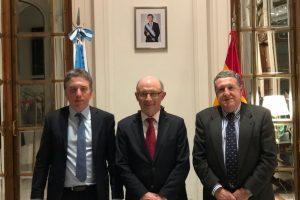 Puerta recibió a Dujovne antes de reunirse con empresarios españoles