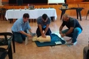 Protección Civil realizó un taller de gestión de riesgo en Wanda