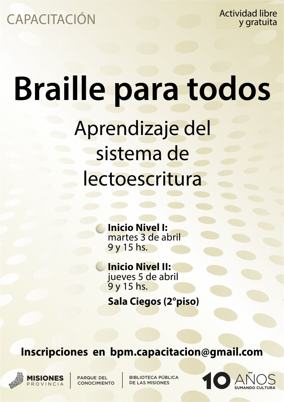 El próximo martes comienzan los cursos de Braille en la Biblioteca ...