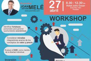 Joan Melé hablará sobre el dinero, trabajo y el valor personal en Posadas