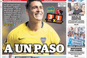 Las tapas de los diarios del lunes 23 de abril: El triunfo de Boca, que ya acaricia el título; el tema de las tarifas