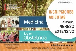 La Ucami abrió las inscripciones al curso de ingreso extensivo para las carreras de Medicina y licenciatura en Obstetricia