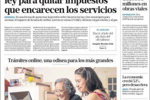 Las tapas del miércoles 25/4: Macri ahora busca por ley que más provincias bajes impuestos a las tarifas