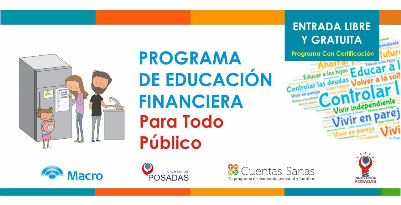 Invitan a un taller de Educación Financiera para emprendedores