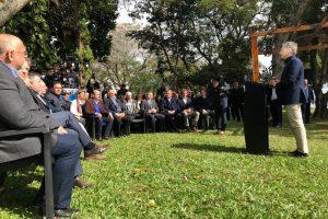 Passalacqua participó de la presentación del plan forestal invitado por el presidente  Mauricio Macri