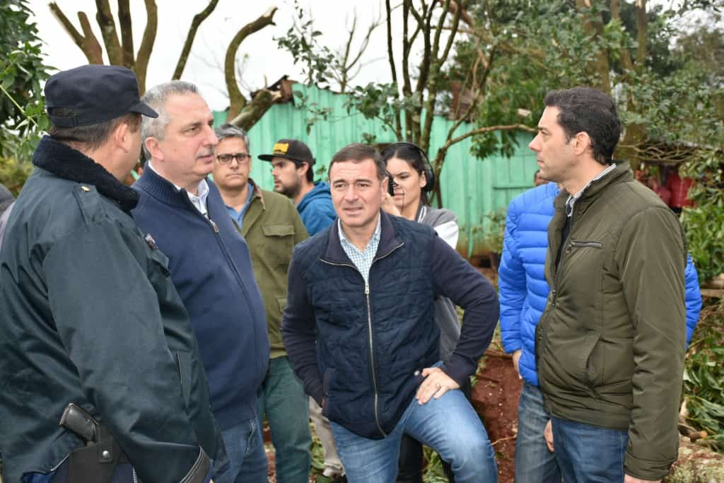 «Ellos me transmitieron energía a mí para que los pueda ayudar», dijo Passalacqua sobre los afectados por el temporal en Guaraní