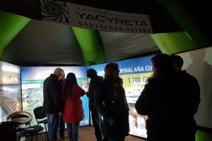 La EBY participó con un stand de realidad virtual en la Fiesta del Caburé en Jardín América