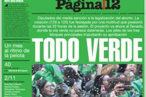 Los diarios del viernes 15/6: La despenalización del aborto, Caputo al BCRA y el Mundial