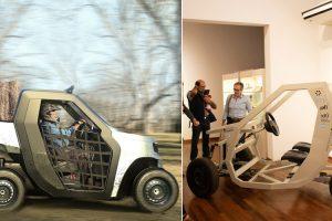 Dúo: estudiantes misioneros diseñaron un vehículo rural y eléctrico