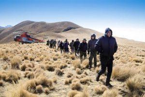 Evacuaron a todos los integrantes del helicóptero en el que viajaba la comitiva presidencial