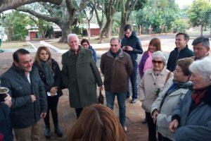 Herrera Ahuad y Stelatto visitaron la plaza mejorada en el Barrio Kennedy de Posadas