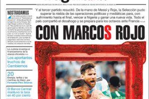 Las tapas de los diarios del miércoles 27/6: El desahogo de la Selección y el sostenimiento de las tasas del Central