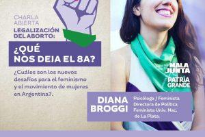 Realizarán charlas sobre el balance de la campaña por el aborto legal