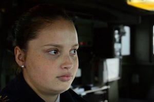 Tamara cumple su sueño de ser parte de la Armada como sonarista en el ARA Granville