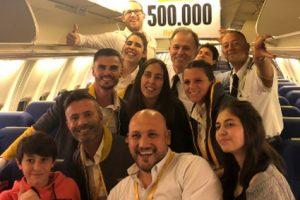 Flybondi alcanzó los 500.000 pasajeros transportados este año