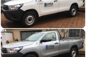 EMSA realizó la entrega de vehículos y grúa de elevación