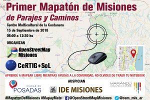 """Realizarán la primer Mapatón de Misiones, """"de Parajes y Caminos"""""""
