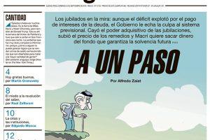 """Las tapas del domingo: Otra notable síntesis de Página 12 sobre un """"dilema"""" bien argentino en tiempos de ajuste"""