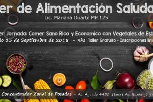 """Taller de cocina """"Alimentación saludable con productos de estación"""" en elMercado Concentrador"""