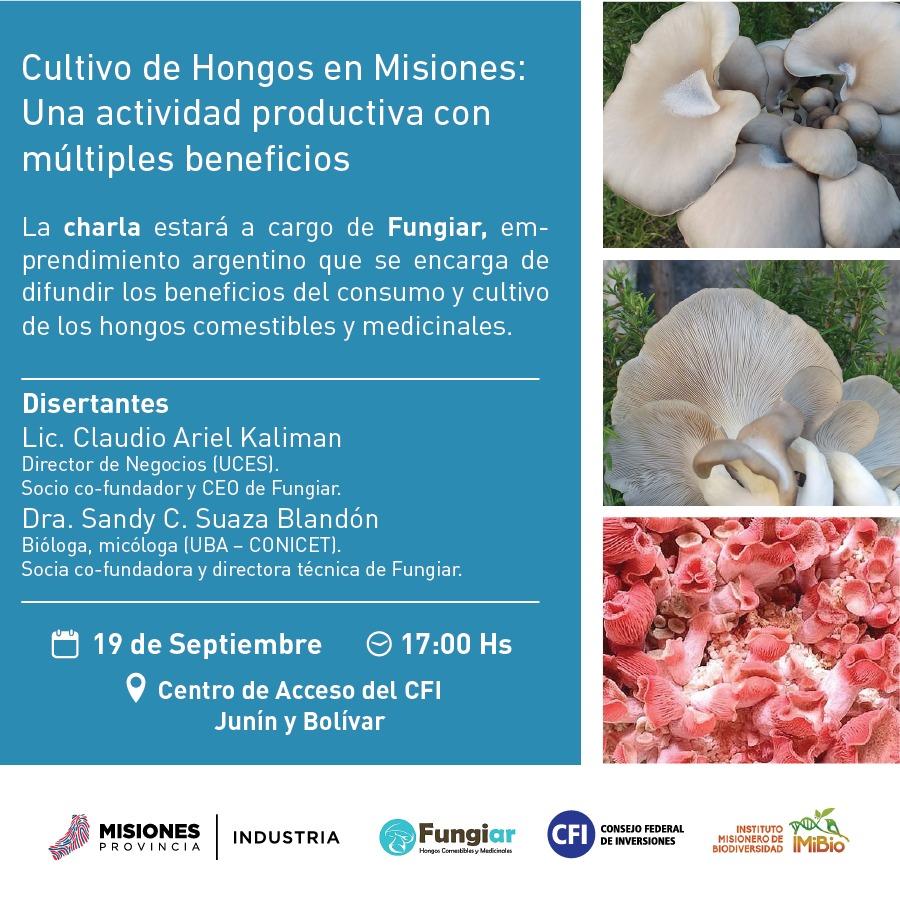 """Charla sobre """"Cultivo de Hongos en Misiones»"""