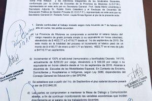 Misiones otorgó a los docentes uno de los mejores aumentos salariales del país