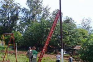 Avanzan las obras de alumbrado público y arreglo de calles en el barrio Belén de Posadas