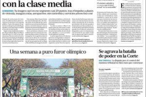 Las tapas de los diarios del domingo: El furor por los JJ.OO. y posibles medidas para apuntalar la economía