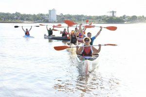 La EBY entregó embarcaciones a la escuela municipal de canotaje