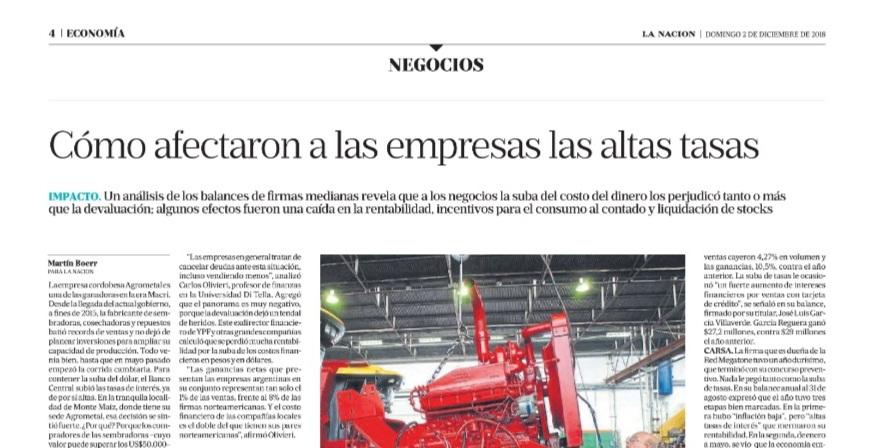 Galver, Megatone, Ferrum o Grimoldi: Informe desde Economis para La Nación sobre el impacto de las tasas altas en las empresas