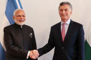 Macri recibió en Olivos al primer ministro de la India, Narendra Modi