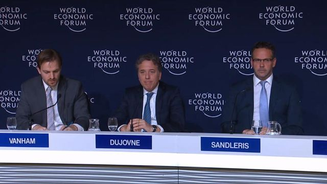 """Dujovne, en Davos: """"En 2020 la Argentina crecerá y será resultado de la aceleración de las reformas"""""""