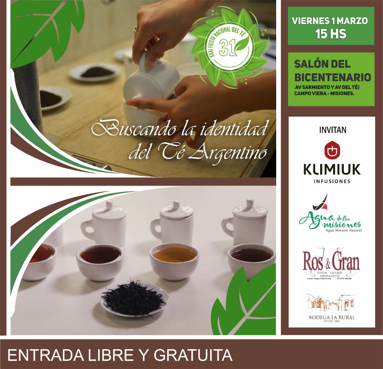 Expertos realizarán una cata sensorial de Té Argentino en Campo Viera